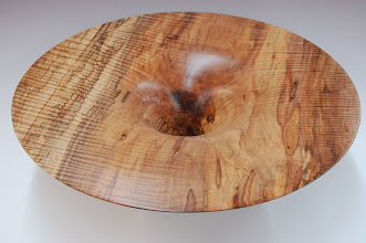 "Photo: Phil Brown - Bowl - spalted red maple - 17.5"" x 5"""
