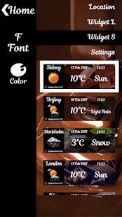 čokoláda hodiny a počasí - náhled