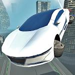 Futuristic Flying Car Driving Icon