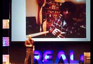 Photo: Carl Bass presentingat #REAL2015 Main Stage
