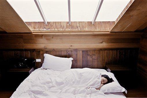 Dormir, Cama, Mujer, Dormitorio, Sueño