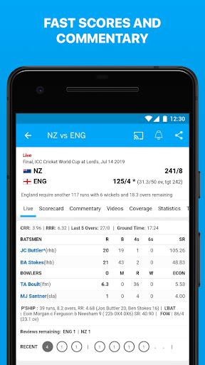 ESPNCricinfo - Live Cricket Scores, News & Videos screenshots 3