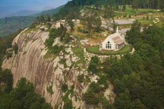 Photo: Cliffs of Glassy Chapel - Landrum, SC http://WeddingWoman.net