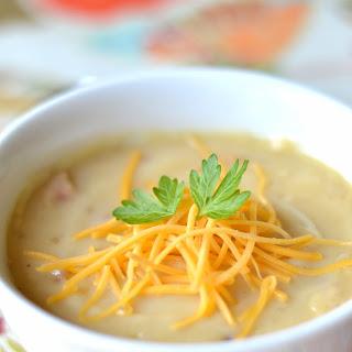 Creamy Loaded Potato Soup.
