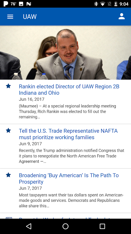 UAW App- screenshot