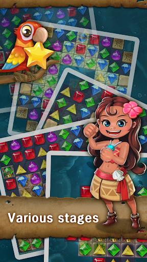 Jewels Island : Match 3 Puzzle fond d'écran 2