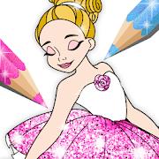 Ballerina Coloring Book Glitter - Girl Games