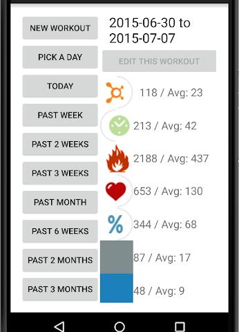 android OTF Workout Calculator Screenshot 4