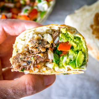Barbacoa Beef Burritos.