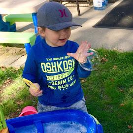 Catching Bubbles  by Debbie Squier-Bernst - Babies & Children Toddlers (  )