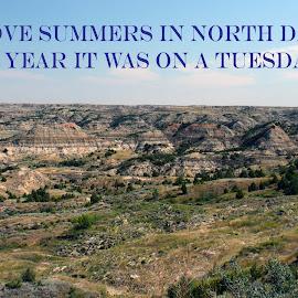 North Dakota Summer by Will McNamee - Typography Captioned Photos ( dld3us@aol.com, gigart@aol.com, aundiram@msn.com, danielmcnamee@comcast.net, mcnamee2169@yahoo.com, ronmead179@comcast.net,  )