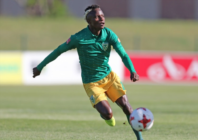 Kudakwashe Mahachi of Lamontville Golden Arrows aduring the Absa Premiership match between Golden Arrows and SuperSport United at Princess Magogo Stadium on January 14, 2018 in Durban, South Africa.