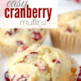 Easy Cranberry Muffins.