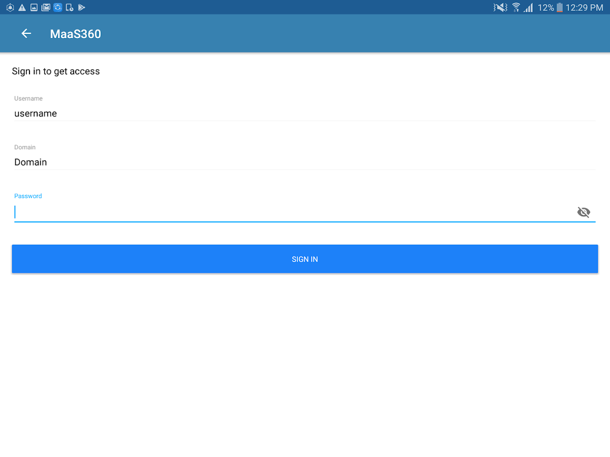 MaaS360 MDM for Android- screenshot