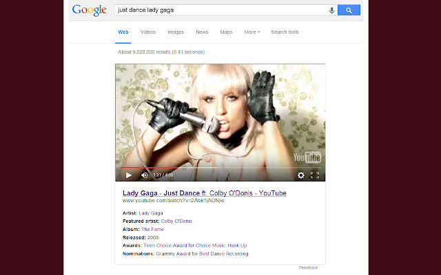 Youtube Embeds in Google Search