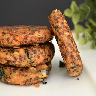 Red Quinoa and Sweet Potato Patties [Vegan]