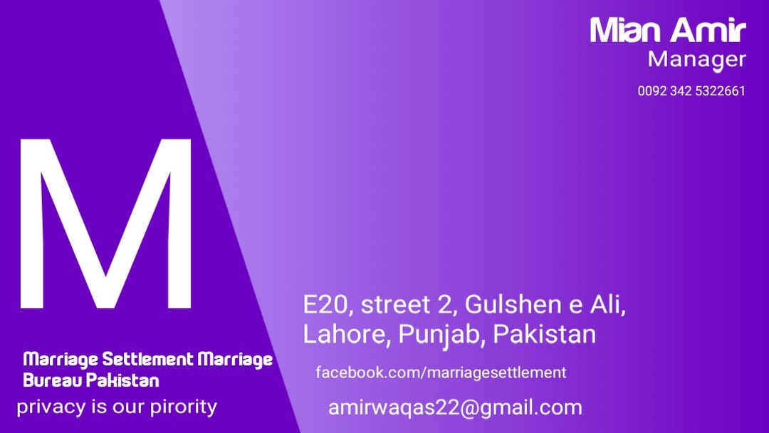 Marriage Settlement Marriage Bureau Pakistan - Marriage