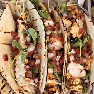 Halibut Fish Tacos with Chipotle Mayonnaise.