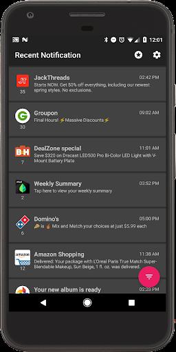 Recent Notification 2.5.0 screenshots 1