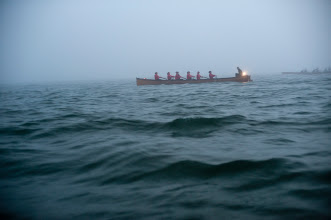 Photo: just rowing to keep warm and waiting for the fog to clear