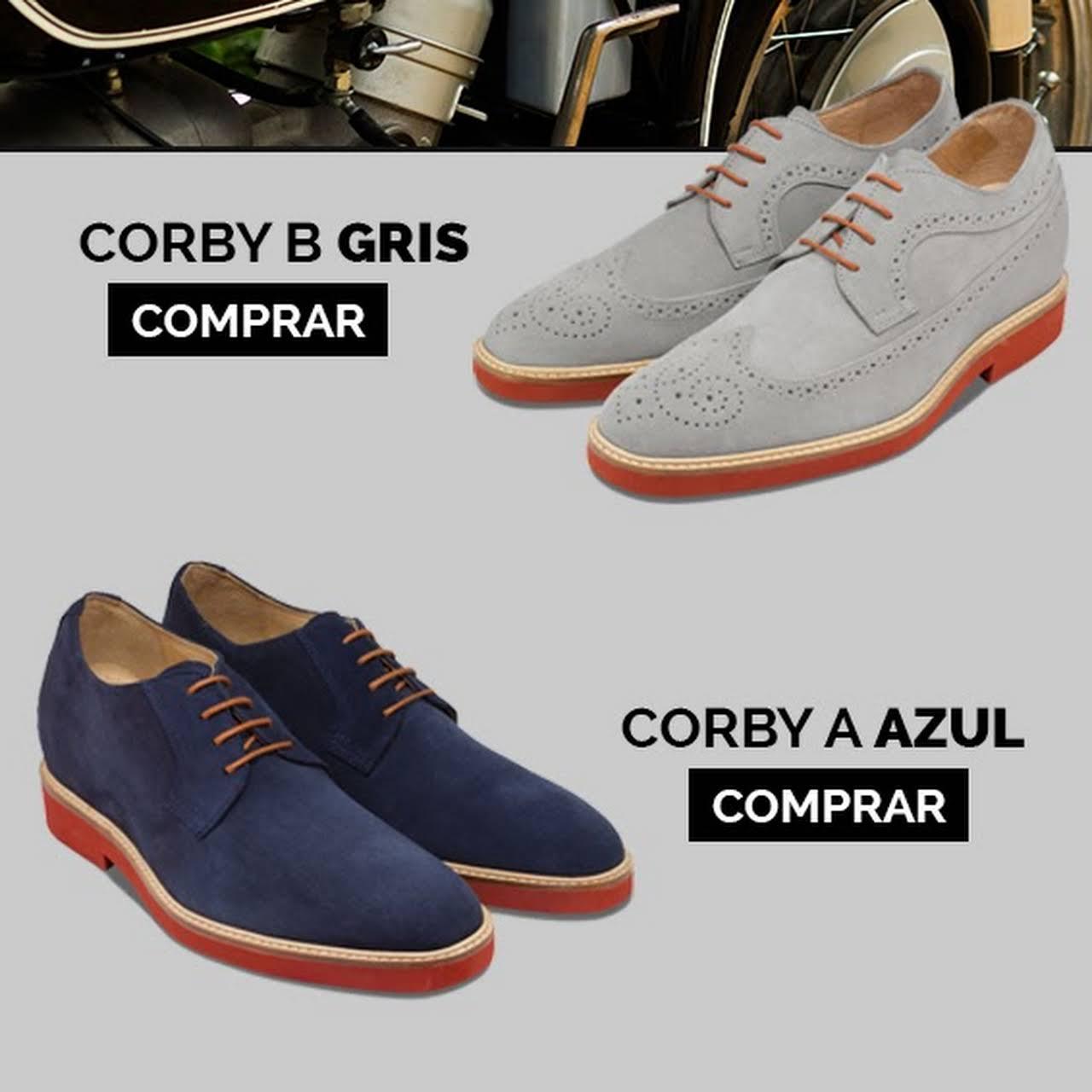 077208de Corby. 132,00 €. Zapatos con alzas de diseño italiano para hombre ...