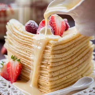 Delicate Custard Crepes