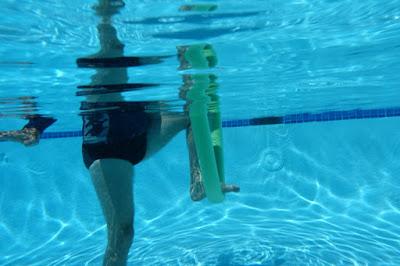Lunge stretch underwater