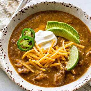 Green Enchilada Pork Chili.