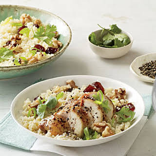 Couscous Salad with Chicken, Dates, and Walnuts.
