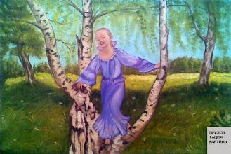 Photo: Наталия Хубеджева, Веснянка, 40смх60см, холст, масло,