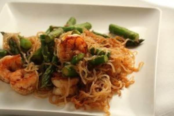 Joshua's Stir Fried Shrimp And Asparagus