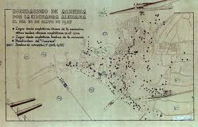 Mapa del bombardeo nazi en Almería