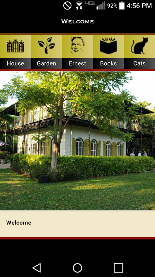 Hemingway Home App- screenshot