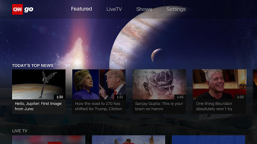 CNNgo for Android TV screenshot 2