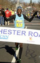 Photo: MANCHESTER 11/28/13  Sam Chelanga of Kenya wins the 2013 Manchester Road Race. (MRR Photo by John Long)