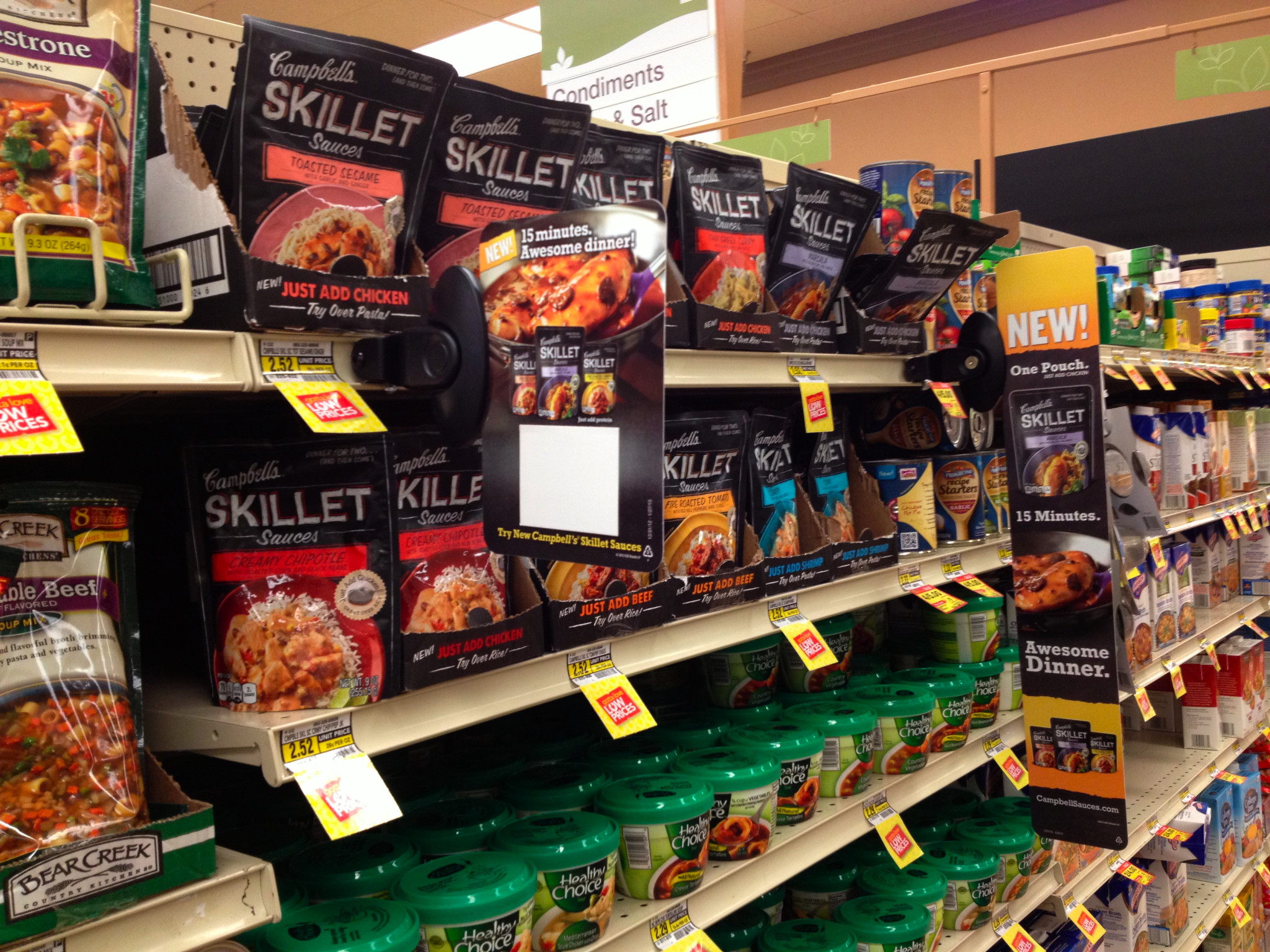 Photo: Campbell's Skillet Sauces, right by the soups - and on sale, yay!!