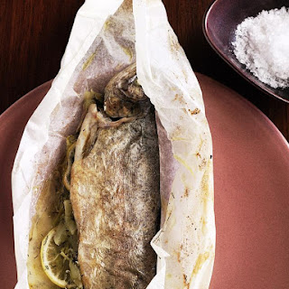 Parchment Baked Trout with Apple Stuffing