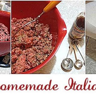 Homemade Italian Sausage.