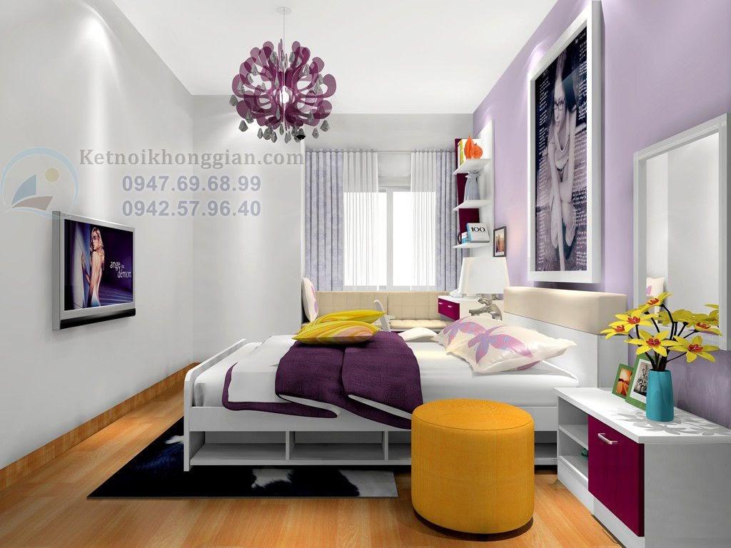 thiết kế phòng ngủ 15m2 cho những cô gái trẻ