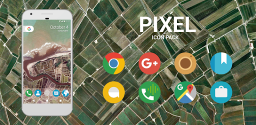 Pixel Icon Pack - Nougat UI app for Android screenshot
