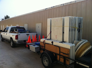 Photo: Trailers of day camp supplies