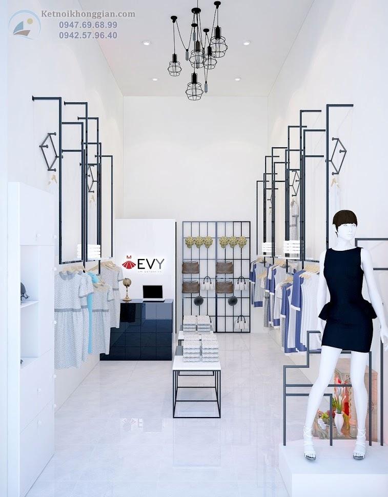 thiết kế cửa hàng thời trang công sở rộng 25m2
