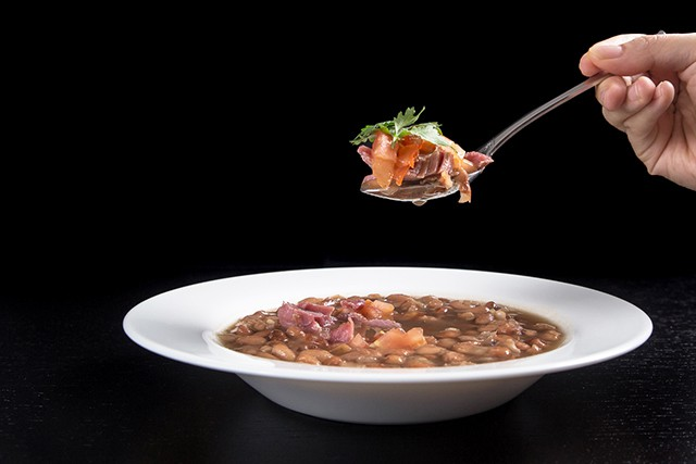 Pressure Cooker Smoky Ham Hock and Pinto Bean Soup Recipe