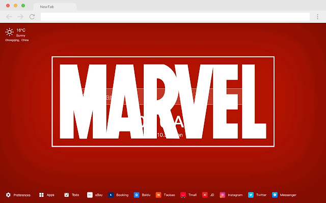 First-rate Marvel New Tab HD Pop Movies Theme