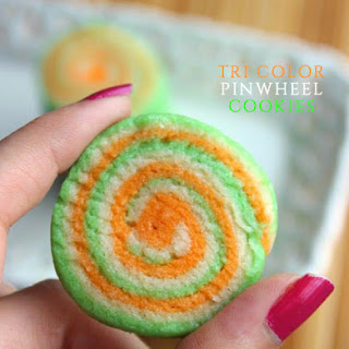 Tri Color Pinwheel Cookies