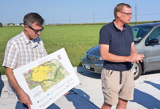 Photo: We stop at a quiet location while Jeremy & Paul give us an overview of the Platte River valley.