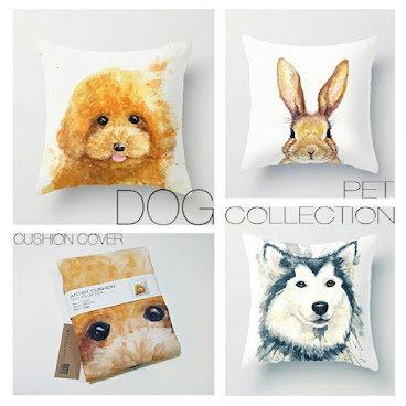 Poodle Puppy Cushion Cover