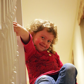 Sliding down the Stairs by Ingrid Anderson-Riley - Babies & Children Children Candids