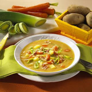 Potato, Carrot and Leek Soup.