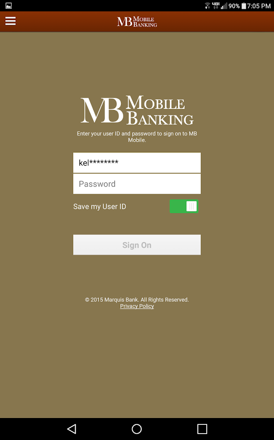 MB Mobile for Tablet- screenshot